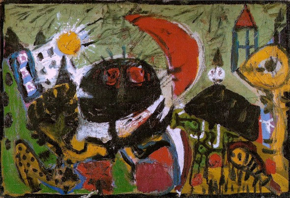 Cobra modification. Joint work of Karel Appel, Constant, Asger Jorn, and Erik Nyholm (1949).