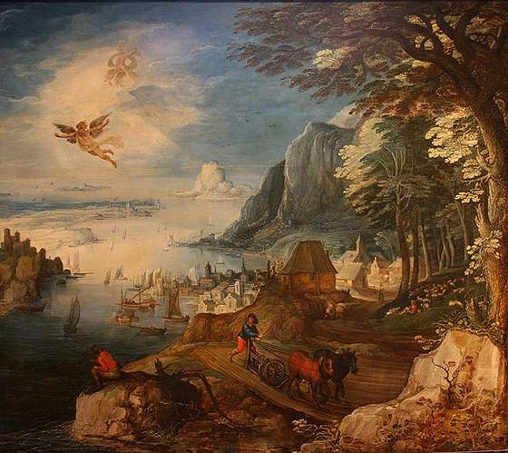 Joos de Momper the Younger: 'Landscape with the fall of Icarus'